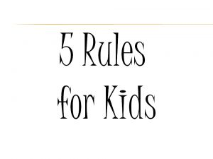 5 rules for kids ministry