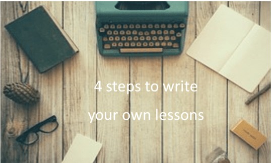 write your own lessons