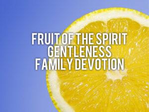 fruit of the spirit gentleness