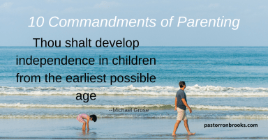 commandments of parenting