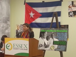 Kenia Serrano, President of ICAP speaking at the Essex County Community College