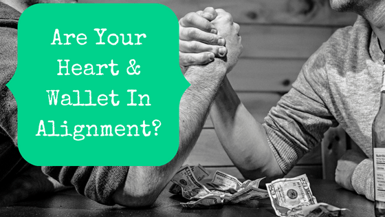 Are Your Heart And Wallet In Alignment? Arm wrestling for money.
