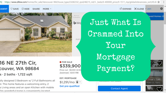 Picture of online house listing with blog post title Just what is crammed into your mortgage payment