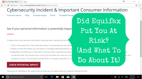 Did Equifax Put You At Risk? (And What You Can Do About It)