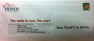 The smile is new.  The cow?