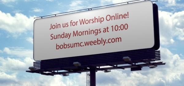 Bob's UMC Billboard