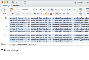 Cutting and pasting email addresses is not the best solution