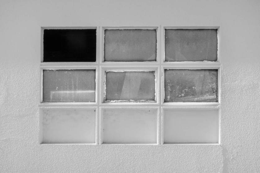 A window with a missing pane Something is missing from this photo and from your website.