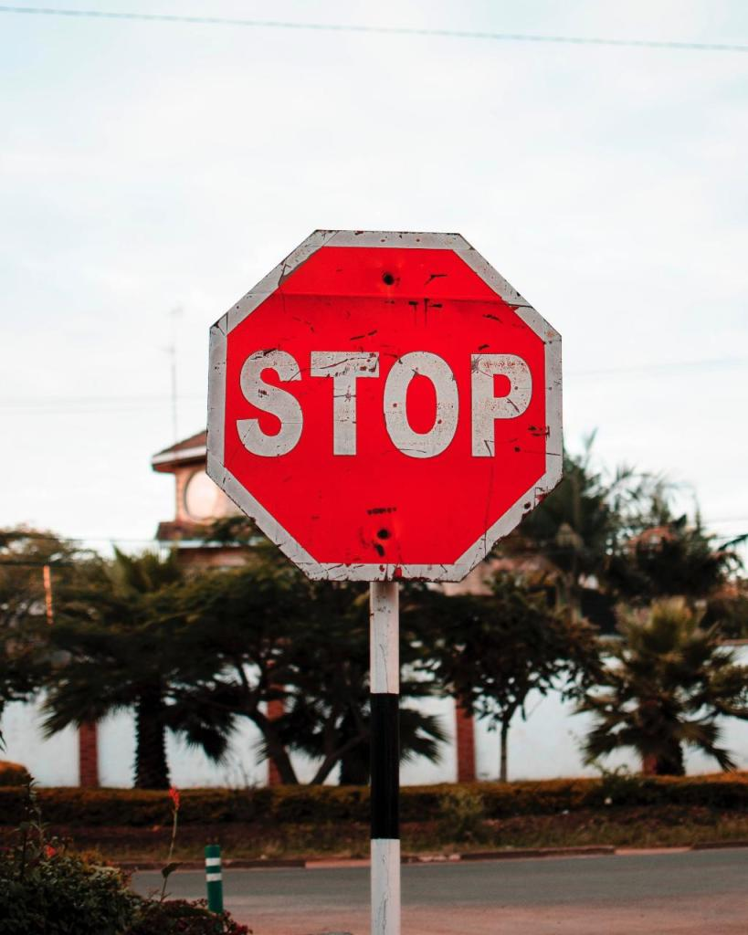 A stop sign. Does your church website offer more direction that this?