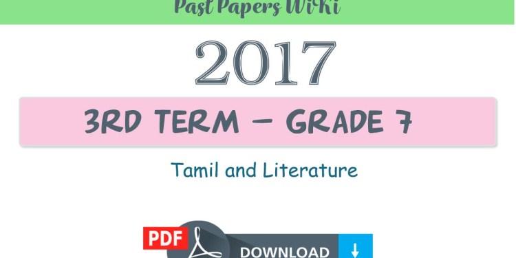 2018 Grade 7 Tamil and Literature