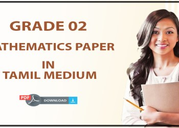Download 2017 Grade 02 Mathematics in Tamil medium