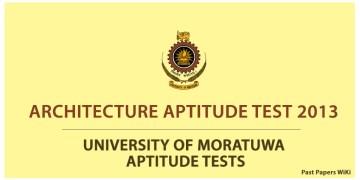 Architecture Aptitude Test 2013