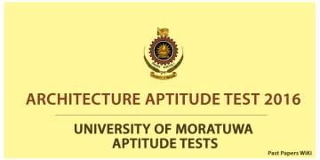 university of moratuwa architecture aptitude test 2017