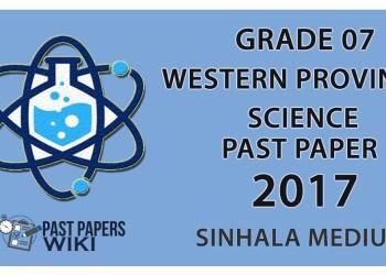 Grade 07 Science Past Paper in Sinhala Medium 2017 - 3rd Term Test