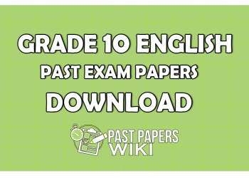 Grade 10 ENGLISHPast Exam Papers Download
