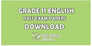 Grade 11 English first term test past paper