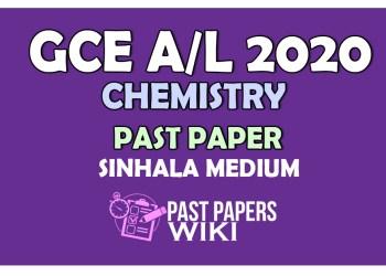 2020 A/L Chemistry Past Paper | Sinhala Medium - PastPapers.WIKI