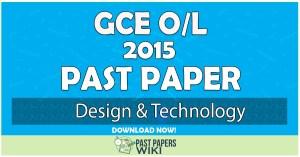 2015 O/L Design & Technology Past Paper | English Medium
