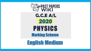 2020 A/L Physics Marking Scheme - English Medium