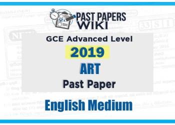 2019 A/L Art Past Paper | English Medium2019 A/L Art Past Paper | English Medium