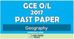 2017 O/L Geography Past Paper   English Medium