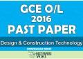 2016 O/L Design & Construction Technology Past Paper | Tamil Medium