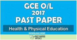 2017 O/L Health & Physical Education Past Paper   Tamil Medium