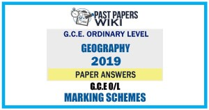 2019 O/L Geography Marking Scheme   Tamil Medium
