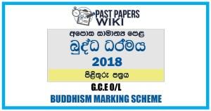 2018 O/L Buddhism Marking Scheme | Sinhala Medium