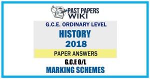 2018 O/L History Marking Scheme | English Medium