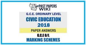 2018 O/L Civic Education Marking Scheme   Tamil Medium