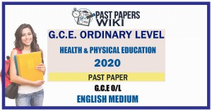 2020 O/L Health Past Paper and Answers   English Medium