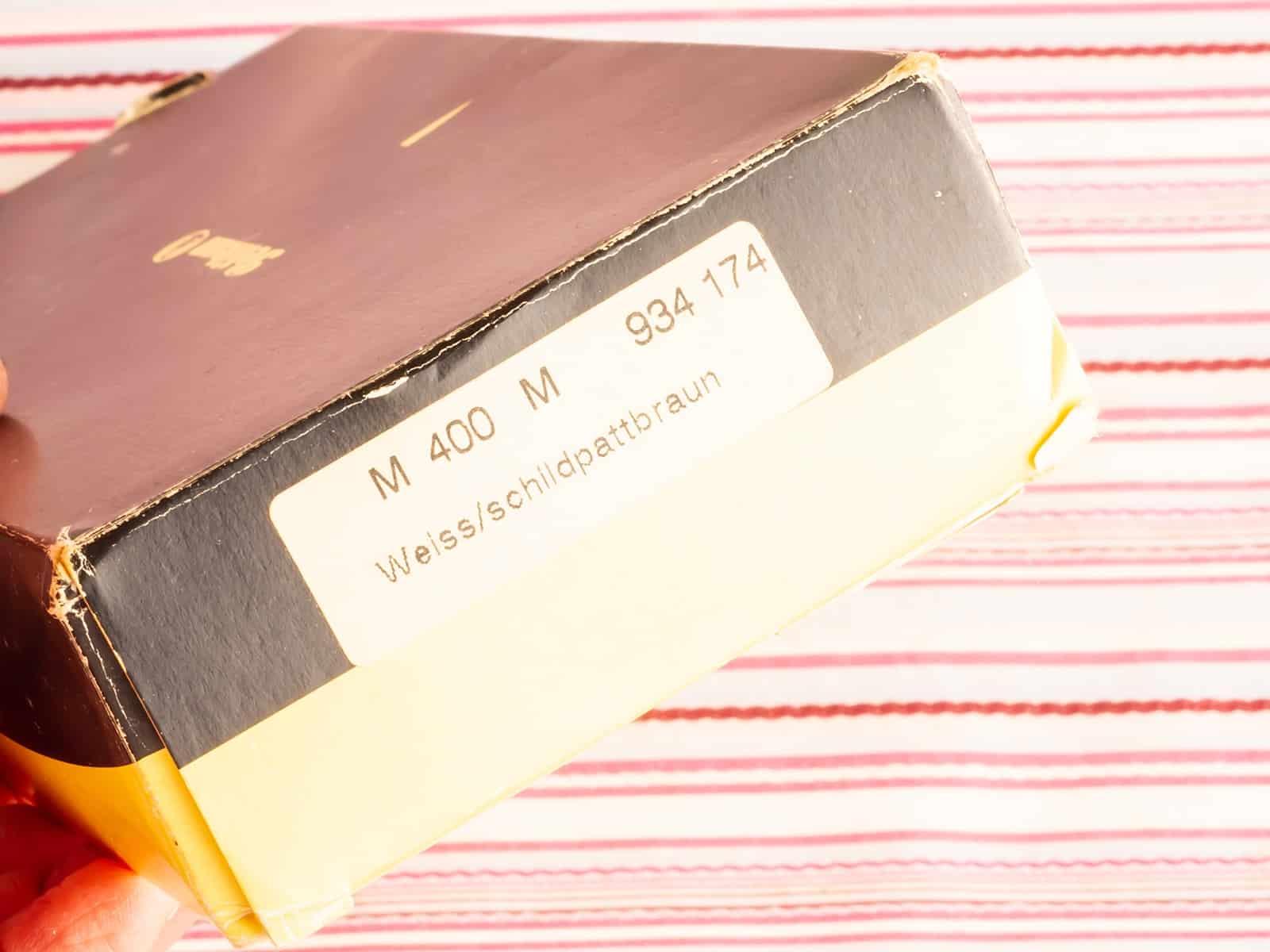 modern vintage pelikan 400 white tortoiseshell 18kt gold fountain pen new old stock box set