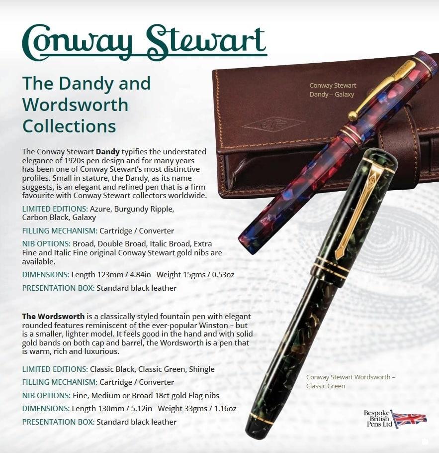 conway stewart dinkie pen new complete gift box