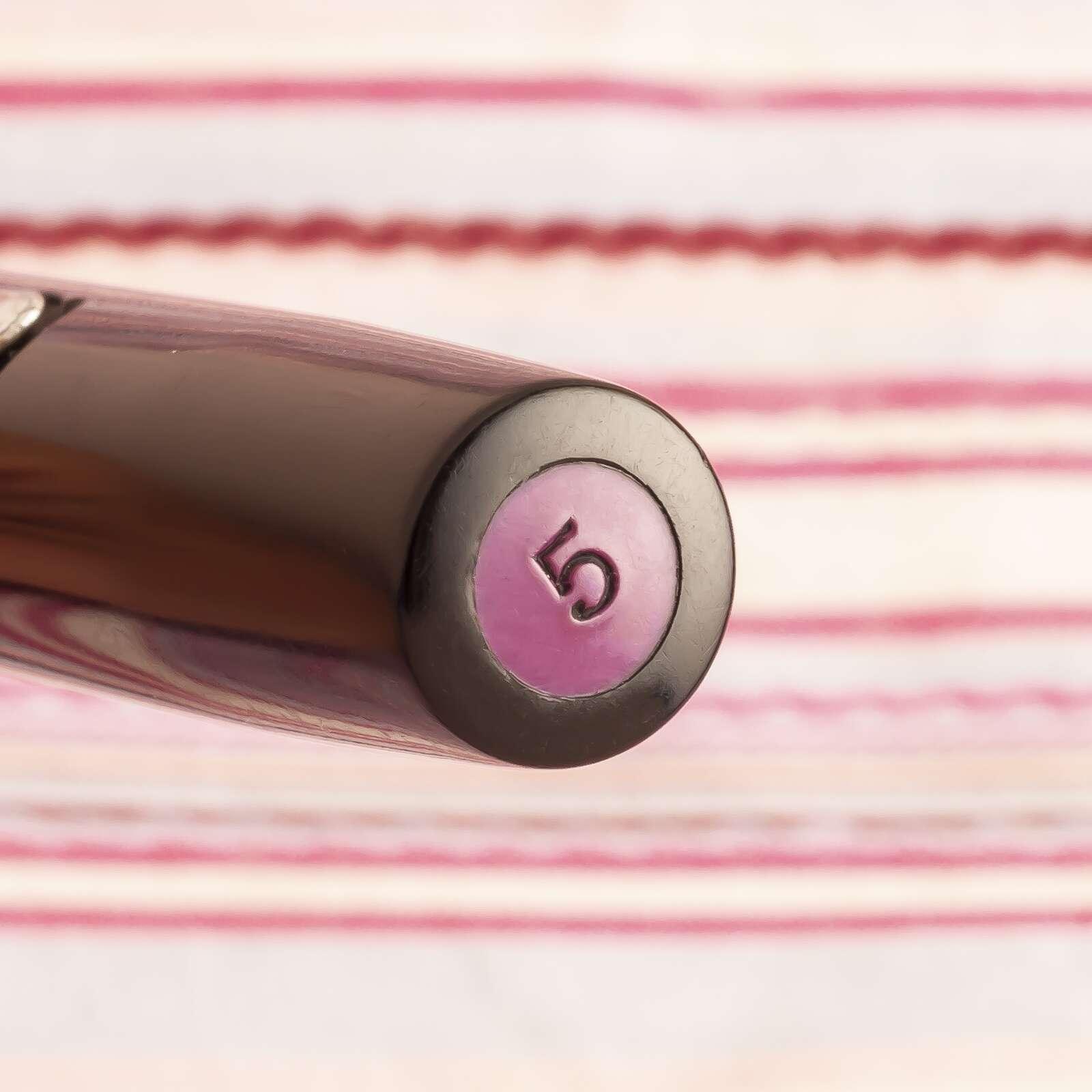 vintage waterman #5 black purple emblem keyhole nib fountain pen