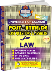 UNICAL Past UTME Questions for LAW