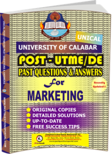 UNICAL Past UTME Questions for MARKETING