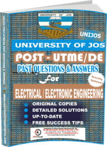 UNIJOS Past UTME Questions for ELECTRICAL ELECTRONIC_ENGINEERING
