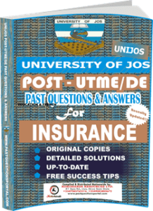 UNIJOS Past UTME Questions for INSURANCE