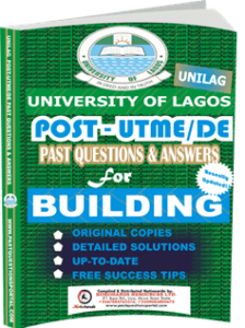 UNILAG Past UTME Questions for BUILDING