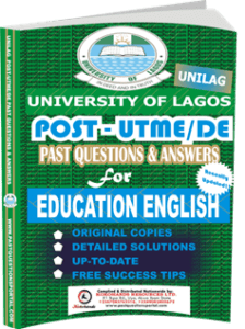 UNILAG Past UTME Questions for EDUCATION ENGLISH