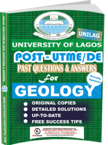 UNILAG Past UTME Questions for GEOLOGY