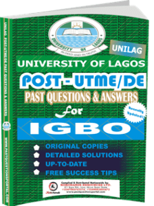 UNILAG Past UTME Questions for IGBO