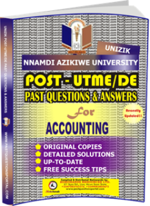 UNIZIK Past UTME Questions for ACCOUNTING