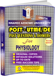 UNIZIK Past UTME Questions for PHYSIOLOGY