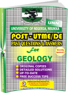 UNN Past UTME Questions for GEOLOGY