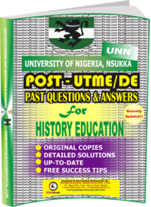 UNN Past UTME Questions for HISTORY EDUCATION