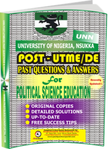 UNN Past UTME Questions for POLITICAL SCIENCE EDUCATION
