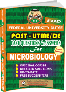 FUD Post UTME Past Questions for MICROBIOLOGY