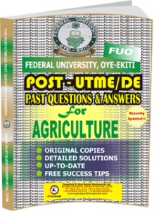 FUO Post UTME Past Questions for AGRICULTURE